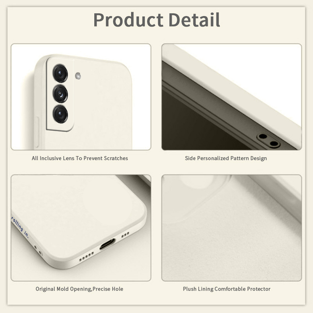 Original Liquid Silicone Case For Samsung Galaxy A51 A71 S21 S8 S9 S10 Plus A50 A52 A72 A31 A21S A41 M31 M30S Shockproof Cover 3