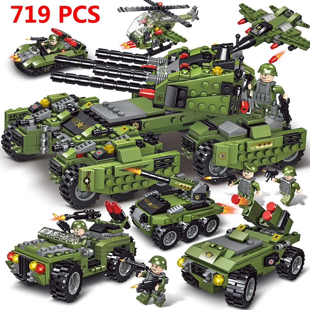 719 pièces militaire allemand Tiger 131 réservoir blocs de construction pour legoely armée WW2 soldat arme briques éducation jouets pour les garçons