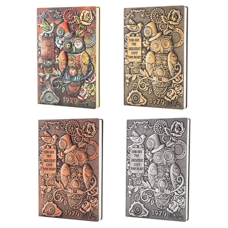 Creative Mechanical Owl Embossed <font><b>A5</b></font> Leather <font><b>Notebook</b></font> Journal Notepad <font><b>Travel</b></font> Diary Planner School Office Supplies image