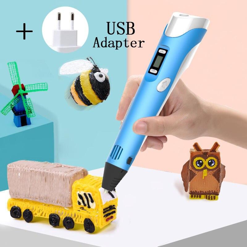 Популярная 3d-ручка, ручка «сделай сам», 3D принтер, светодиодная ручка для рисования, Детские 3d-ручки для рисования, дизайнерские детские руч...