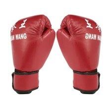цена на Red & Black Adult Boxing Gloves Professional Sandbag Liner Gloves Kickboxing Gloves Pugilism Men Women Training Fighting Tool
