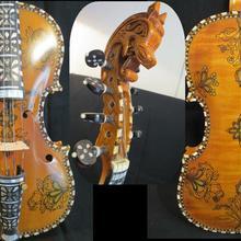 Инкрустация и drawin скрипка Hardanger скрипка норвежская скрипка 4/4 скрипка(4*4)#12864