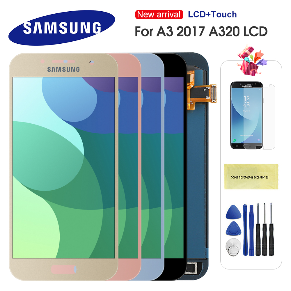 For Samsung Galaxy A3 2017 LCD A320 SM-A320F A320M A320Y LCD Display Touch Screen Digitizer Assembly For A3 A320 LCD Screen