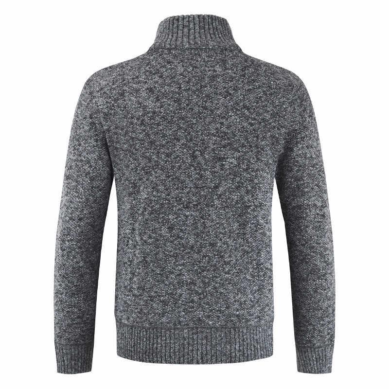 Cárdigan para hombre 2019 otoño grueso nuevo suéter Casual de negocios marca Slim Fit prendas de punto abrigo invierno suéter puente hombres abrigos