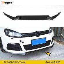 цена на Golf 6 R20 OSIR Style Carbon Fiber Front Bumper Lip Spoiler for Volkswagen R20 Bumper front skirt For VW Mk6 3pcs