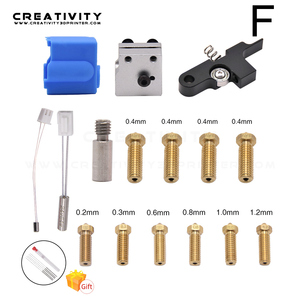 Image 5 - 3D Printer Extruder Sidewinder X1/Genius Silicone Nozzle Kit Throat Handle Thermistor Heating Pipe Heated Block for Artillery