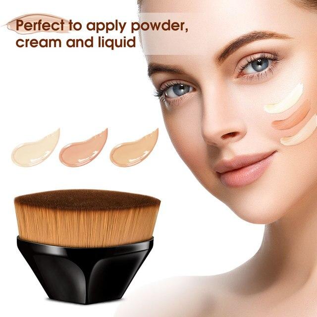 Pincéis de maquiagem fundação escova bb creme solto em pó plana kit conjunto feminino compõem a ferramenta cosméticos beleza 3
