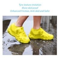 재사용 가능한 방수 비 방수 실리콘 장화 unisex 남성 여성 신발 커버 non-slip washable overshoes 내마 모성