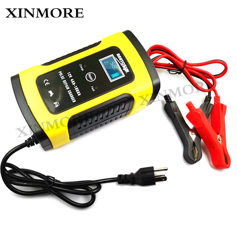 12V 5A LCD Pulse Repair Battery Charger For Car Motorcycle AGM Gel Wet Lead Acid