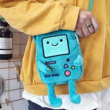 Adventure Huobao игровой автомат BMO Наклонная Сумка время приключений плюшевый симпатичный сотовый телефон нулевой кошелек сумка на одно плечо