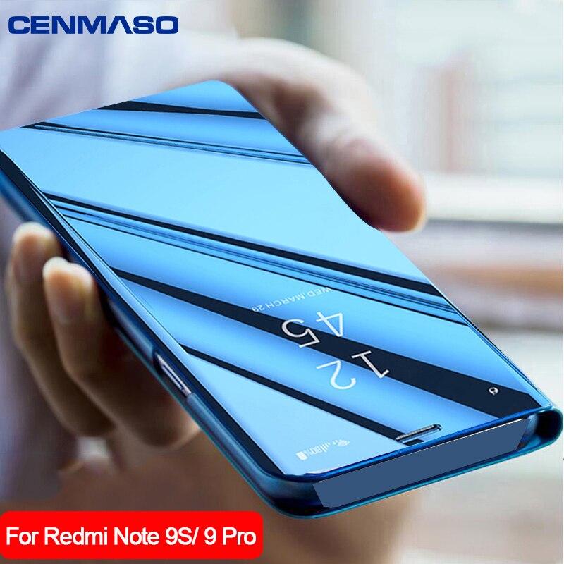 For Xiaomi Mi 10 Lite Redmi Note 9S 9 Pro Max Case Mirror Smart Window Flip Cover for Xiaomi Redmi Note 8 Pro 8T K20 K30 Case