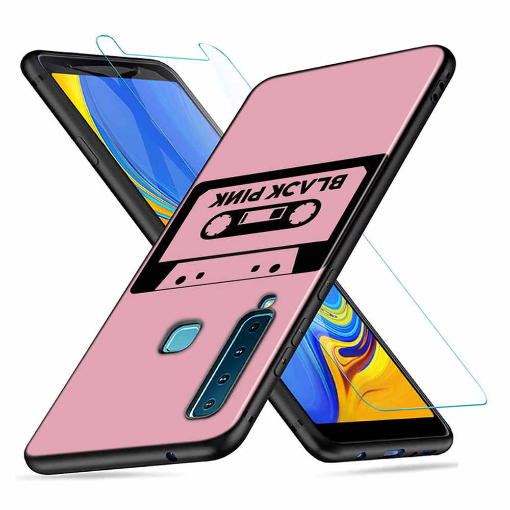 Black Silicone Cover BLACKPINK kpop for Samsung Galaxy A9 A7 2018 A8 A6 Plus A5 A3 Star 2017 2016 Phone Case