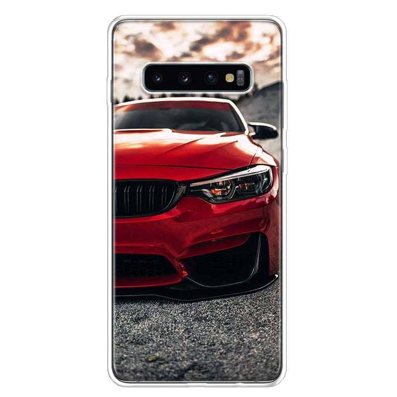 Blue Red Car For Bmw Cover Phone Case For Samsung Galaxy S10 S20 Ultra Note 10 9 8 S9 S8 J4 J6 J8 + Lite Plus Pro S7 Coque