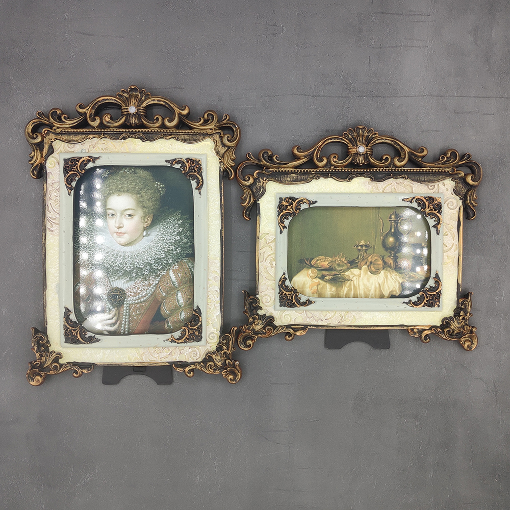 Европейская рельефная старая фоторамка, фоторамка 6/7 дюйма, фоторамка в американском стиле кантри, подвесная настенная декоративная рамка