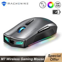 Machenike M7ワイヤレスマウスゲーミングマウスゲーマー16000 dpi rgbプログラマブル充電式PMW3212 PMW3335コンピュータマウス