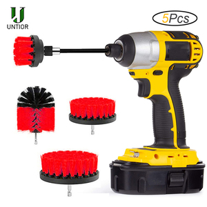 UNTIOR Power Scrubber Brush Set for Bathroom Drill Brushes Cordless Attachment Kit Power Toilet Brush Electric Cleaning Brush
