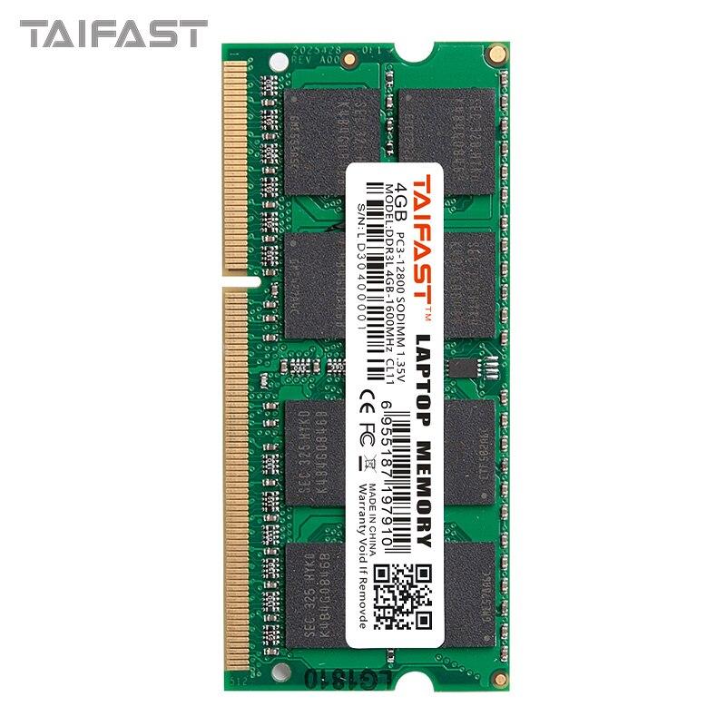 Taifast ddr3l 8 gb 4gb para a memória do portátil ram assim dimm ddr3 1333mhz 1600mhz sodimm 8 gb 1.35v|RAM|   -