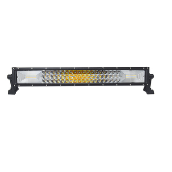 ECAHAYAKU 20 Inch Straight LED Light Bar 324W with Dual Color and Flashing Style IP68 6000K for Road Roller Crane Mining Tractor