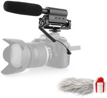 TAKSTAR SGC 598 wywiad mikrofon Shotgun uniwersalny mikrofon pojemnościowy do Nikon Canon lustrzanka cyfrowa nagrywanie wideo Vlog Mic