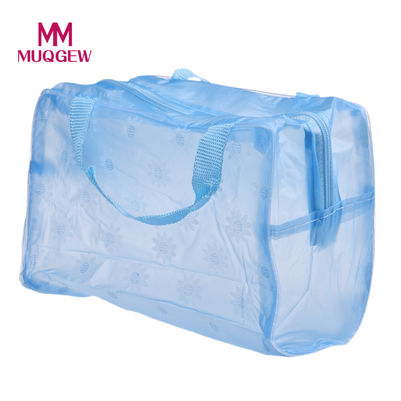 Portable Makeup Cosmetic Toiletry Travel Wash Toothbrush Pouch Organizer Bag Waterproof Washable Cosmetic Bag Transparent Bags 5