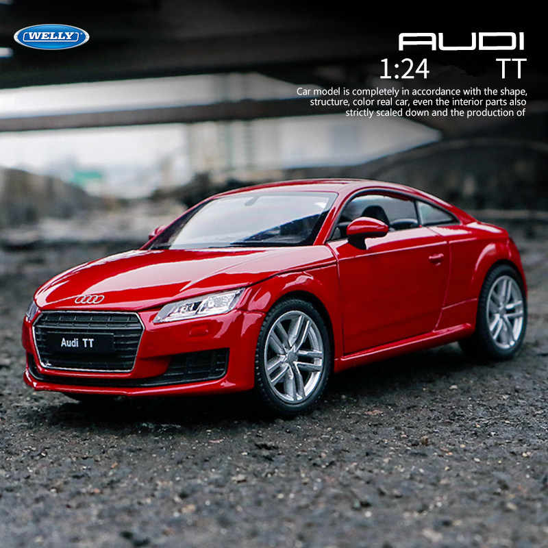 WELLY 1:24 Audi TT     car alloy car model simulation car decoration collection gift toy Die casting model boy