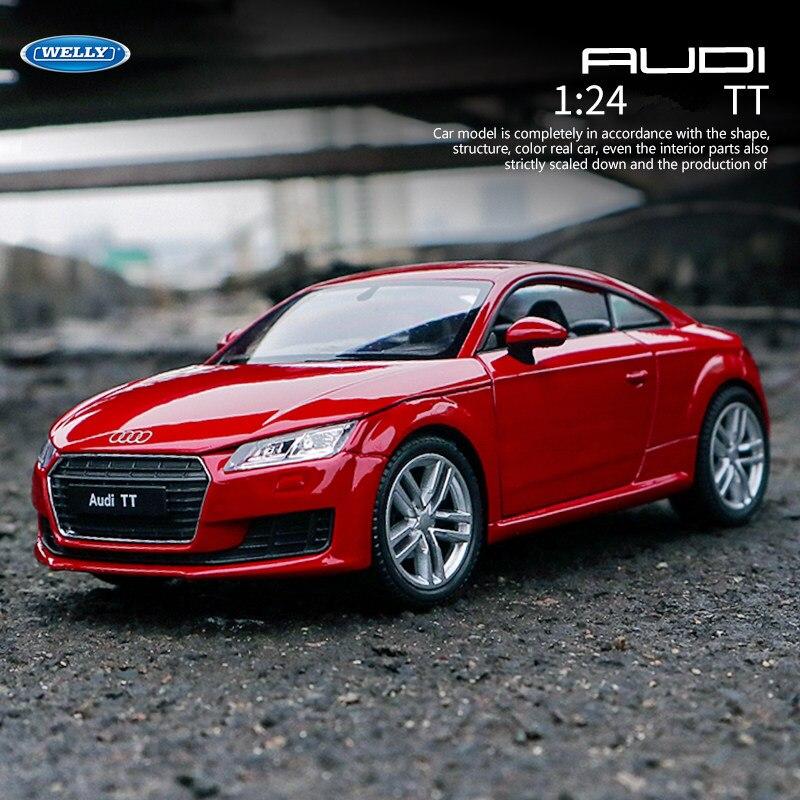 WELLY 1:24 Audi TT     Car Alloy Car Model Simulation Car Decoration Collection Gift Toy Die Casting Model Boy