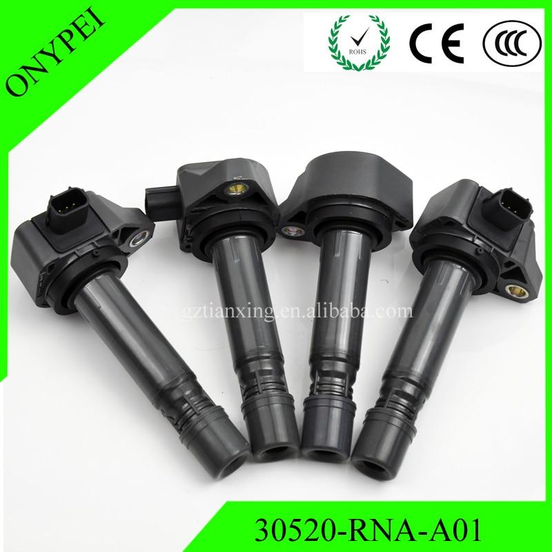 Новая катушка зажигания 30520-RNA-A01 099700-101 для Honda Civic 2006-2011 1.8L UF582 C1580 UF-582 30520 РНК A01 30520RNAA01, 4 шт.