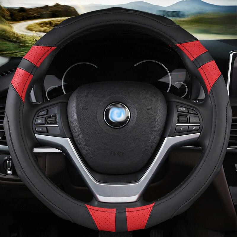 Чехол рулевого колеса автомобиля кожа авто аксессуары для интерьера, для bmw x1 e84 f48 x3 e83 f25 g01 x5 e70 f15 e53 x6 e71 e72 f16