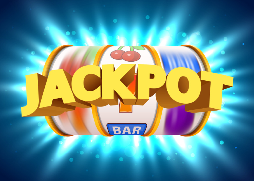 7x5FT Golden Slot Machine Wins Jackpot Big Win Casino Glow Blue Color Custom Photo Backdrop Background Vinyl 220cm X 150cm|Background| - AliExpress