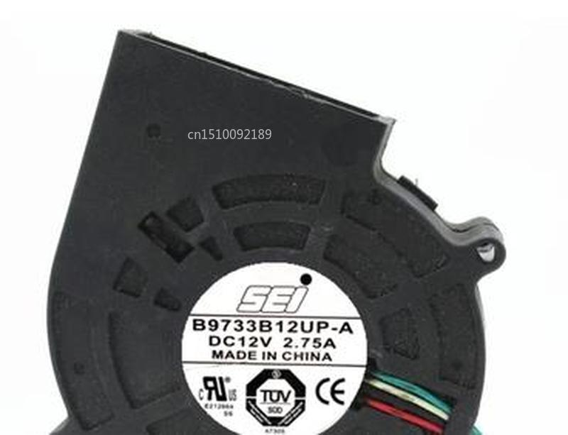 For SEI B9733B12UP-A Server Cooler Fan DC 12V 2.75A 97x97x33mm 4-wire Free Shipping