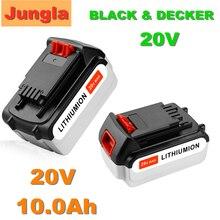 Bateria recarregável do li-íon da substituição da bateria da ferramenta original 20v 10000mah para black & decker lbxr20 lb20 lbx20 lb2x402
