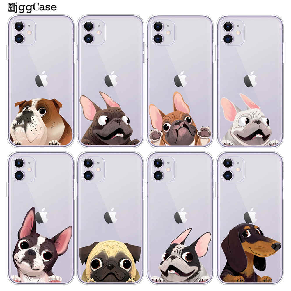 TPU Back Cover For iPhone 11 Pro X XR XS MAX 8 7 Pug Dog French Bulldog Silicone Soft Case For iPhone 8 7 6S 6 S Plus Phone Case