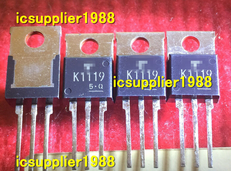 5pcs/lot 2SK1119 K1119 TRANSISTOR 4A, 1000V, 3.8ohm, N-CHANNEL, Si, POWER, MOSFET, TO-220AB