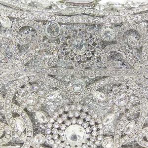 Image 3 - Boutique de fgg sparkling prata feminino cristal embreagem sacos de noite nupcial diamante embreagem bolsa festa casamento minaudiere bolsa