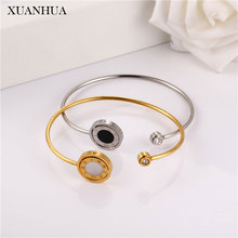 XUANHUA Double Shell Bracelets Bangles For Women Stainless S