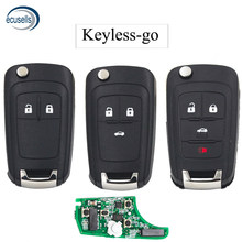 2/3/4 кнопки без ключа-go складной дистанционный ключ для Chevrolet 433MHz с чипом ID46 HU100 Balde (после рынка)