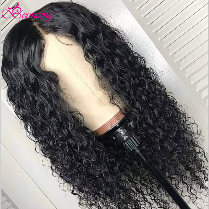 Water Wave Human Hair Lace Frontal Wigs 180Density Short Bob Wigs 13x4 Frontal Wigs Bouncing Hair Brazilian Remy Wigs Long Wigs