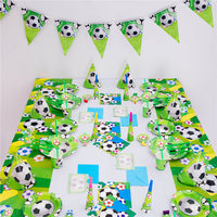 90pcs/set green football field football theme party set kids birthday party one time party tableware theme party