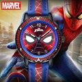 Часы наручные «Человек-паук» Disney, крутые Кварцевые водонепроницаемые часы с супергероями Marvel, Мстители, студенческие, подарок на день рожде...