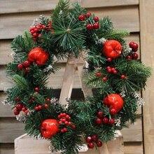 Christmas Wreath Fruit Decoration Wreath Front Door Decoration Thanksgiving Harvest Decoration Home Garden of fice Wall Wedding