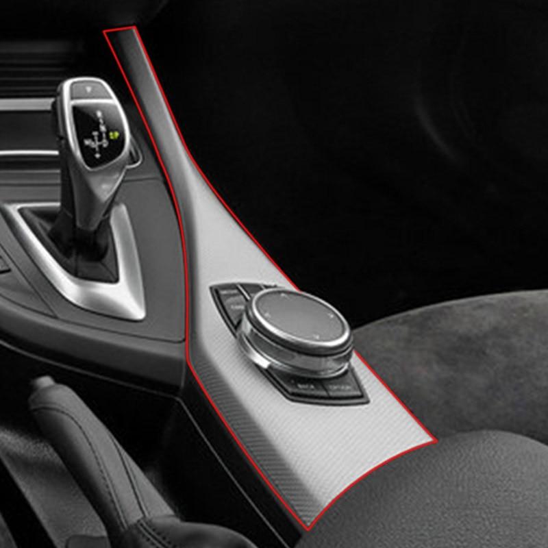 Для BMW 1 серии F20 F21 116I 118I 12-18 2 серии F22 F23 ABS углеродное волокно мультимедийная Кнопка панель наклейка автомобильные аксессуары