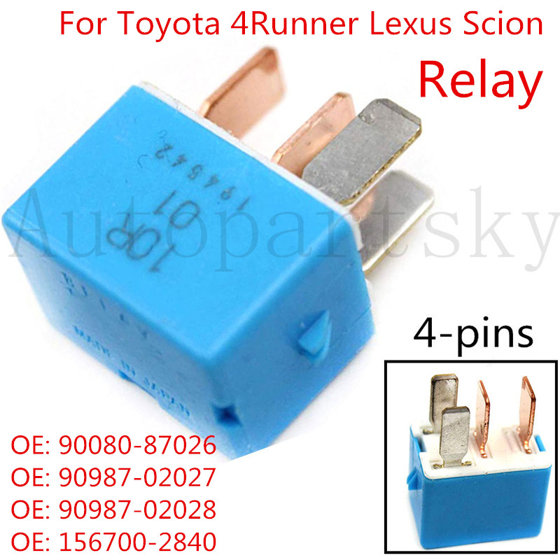 4pins 12V Relay Module Unit Fog Lights Relay For <font><b>Toyota</b></font> Prius Lexus Scion <font><b>4Runner</b></font> OE: 90987-02027 90080-87026 90987-02028 image