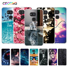 Kasus untuk BQ Aquaris V Case Lembut TPU Kembali Ponsel Cover untuk BQ Aquaris Vs Cover Kerang Silicone Coque Cetak painted Fundas 5.2 Inch(China)