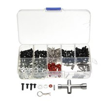 270pcs Flat Head Screws + N3/4 Washer with Hexagon Wrench Box Special Repair Tool Kit For 1/10 HSP RC Car Accessories