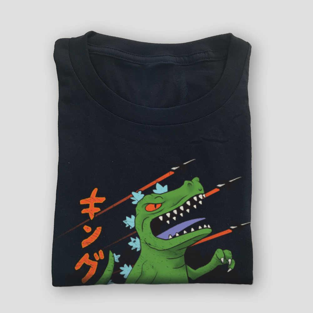 Harajuku מלך של דינוזאורים REPTAR משחק הדפסת טי חולצה Kaiju מפלצת כותנה בד Mens Tshirts T חולצה פאנקי Streetwear