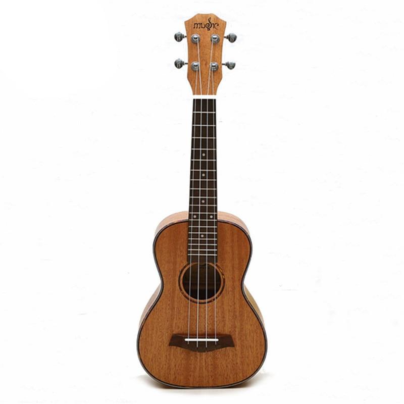 4 Strings Mahogany Guitar 23 Inch Soprano Ukulele Beginner Rosewood Fretboard Bridge For Musical Stringed Instruments