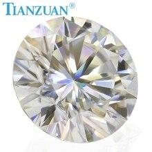 متجر جديد ترويج المبيعات 3 مللي متر GH اللون الأبيض الجولة الرائعة كربيد سيليكون مقطع مجوهرات مفككة حجر