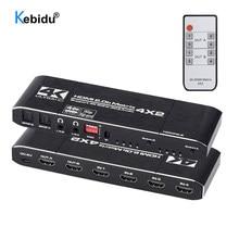 2.0 Matrix 4K 60Hz/30Hz HDMI-compatibile Matrix 4x2 Switch Splitter HDCP 2.2 4X2 Swicther con Audio HDR ARC per TV HDTV PS4