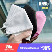 Adult Fish KN95 Mask Face Fabric Mask KN95 Respirator Protective Mouth Face Mask KN95 Mask Dustproof Pink Black Mascarillas