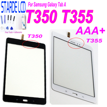 цена на For Samsung Galaxy Tab A T355 T350 SM-T355 SM-T350 Touch Screen Digitizer Sensor Glass Panel Tablet Replacement with Free Tools